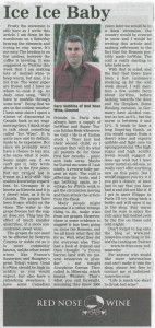 Red Nose Wine Article - Nationalist Jan 14 2010