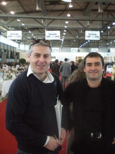 Gary Gubbins of Red Nose Wine and Vincent Careme