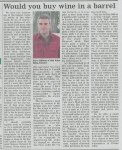 Red Nose Wine Article - Nationalist Apr 9 2010