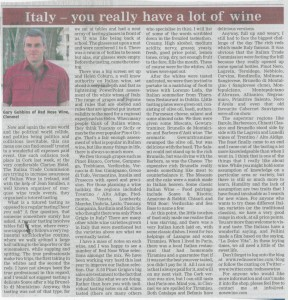 Red Nose Wine Article - Nationalist May 27 2010