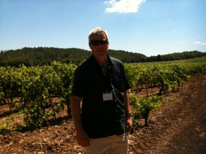 Gary Gubbins of Red Nose Wine in Chateau Miraval, Provence