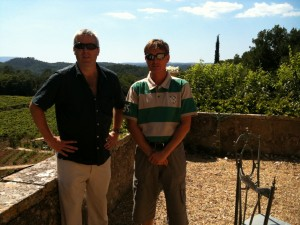 Gary Gubbins of Red Nose Wine and Philippe Guillanton of Chateau Margui