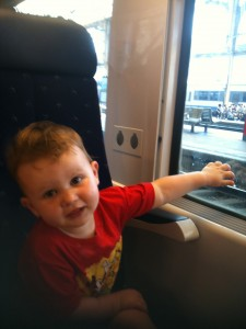 John on the way to Juan Les Pins - Bastille Day