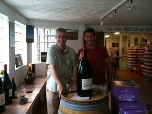 Gary Gubbins of Red Nose Wine with Samuel Guibert of Mas de Daumas Gassac in France