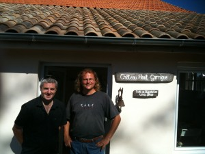 Gary Gubbins of Red Nose Wine and Sean Feely of Chateau Haut Garrigue