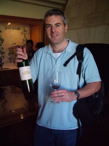 Gary Gubbins of Red Nose Wine at Chateau Margaux