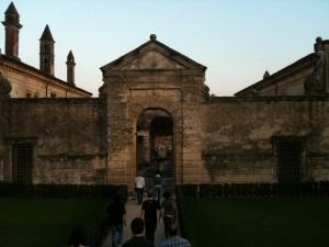 The 'Wine Gang' entering Palazzo della Torre