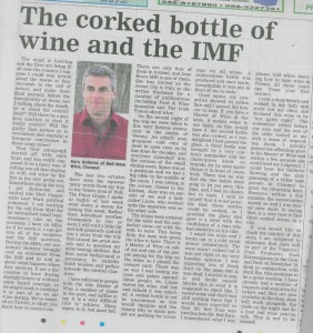 Red Nose Wine Article - Nationalist Oct 13 2010