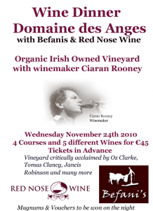 Domaines de Anges Wine Dinner