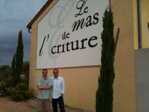Gary Gubbins of Red Nose Wine and Pacal Fulla of Mas de L'Ecriture