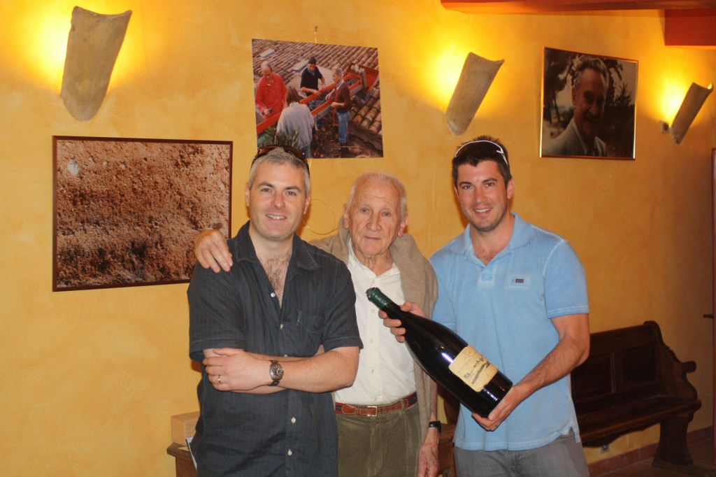 Gary Gubbins of Red Nose Wine with Aime & Samuel Guibert