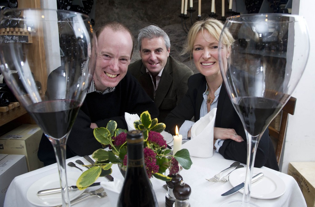 Dinner in the wine cellars of Ballymaloe