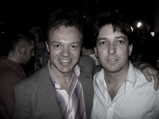 Graham Norton and Jasper in McCarthys