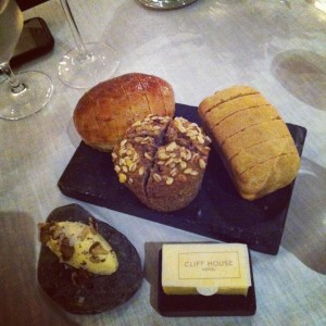 The bread including Smoked Glenilen Butter, Irish Walnuts and Seasalt.