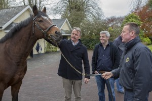 Sam meets the great Galilieo at Coolmore