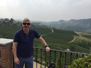Me looking smug in the vineyards of Barolo