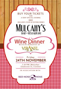 Mulcahys Wine Dinner Poster