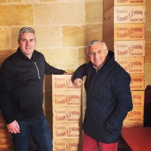 Gary Gubbins and Mr de la Filolie of Chateau Laniote